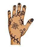 Hand with drawing Royalty Free Stock Image