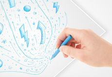 Hand drawing abstract sketches Stock Image