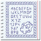Hand drawing alphabet. Doodle vector Royalty Free Stock Photography