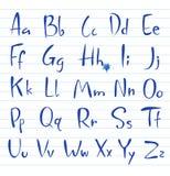 Hand drawing alphabet. Doodle hand written alphabet, unique font Stock Images