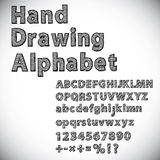 Hand drawing alphabet. Font illustration Royalty Free Stock Images