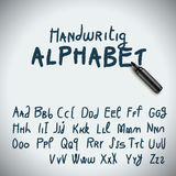 Hand drawing alphabet. Marker Hand drawing alphabet, vector Eps10 illustration Stock Images