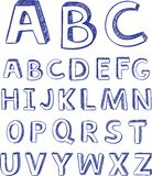 Hand drawing alphabet. vector for design Royalty Free Stock Photography