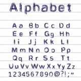 Hand-drawing alphabet - vector illustration. This is file of EPS10 format Stock Photography