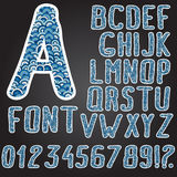 Hand drawing alphabet. Vector trendy hand drawn doodle font, high quality design element Stock Photo