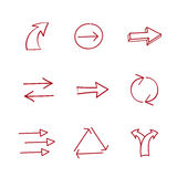 Hand-drawing arrows Stock Image