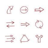 Hand-drawing arrows Stock Photos
