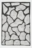 Hand drawing artistic abstract art for adult coloring pages in doodle