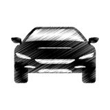 Hand drawing automobile car icon design Royalty Free Stock Images