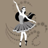 Hand drawing ballerina figure Stock Images