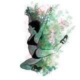A Hand Drawing of a Ballerina. Illustration of a Ballet Dancer Girl. vector illustration