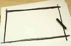 Hand Drawing Black Frame Royalty Free Stock Photo