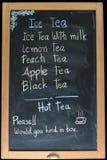 Blackboard menu Royalty Free Stock Photography