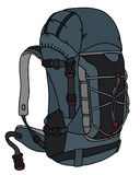Blue big backpack Stock Photography
