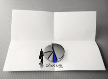Hand drawing business strategy word Stock Photography