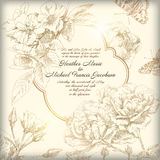 Hand drawing card flower background Royalty Free Stock Photography