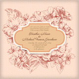 Hand drawing card flower background Royalty Free Stock Images