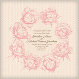 Hand drawing card flower background Stock Photos