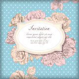 Hand drawing card flower background Stock Photo