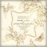 Hand drawing card flower background Stock Photography