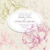 Hand drawing card flower vector frames Royalty Free Stock Photos