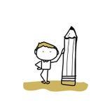 Hand drawing cartoon back to school Stock Image