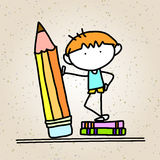 Hand drawing cartoon concept back to school Stock Photos
