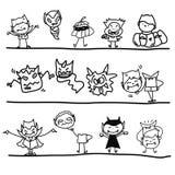 Hand drawing cartoon funny halloween Royalty Free Stock Photos