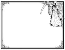Halloween Frame With Grim Reaper Royalty Free Stock Photography