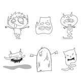 Hand drawing cartoon halloween Royalty Free Stock Photos