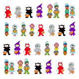 Hand drawing cartoon halloween Royalty Free Stock Photo