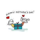 Hand drawing cartoon happy family. Hand drawing cartoon character happy family Royalty Free Stock Images