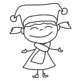 Hand drawing cartoon happy kids Stock Photography