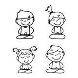 Hand drawing cartoon happy life Stock Photos