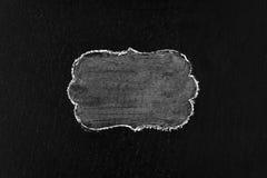Hand drawing chalk frame on blackboard Stock Photo