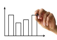 Hand drawing a chart Royalty Free Stock Images