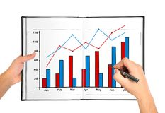Hand drawing chart Stock Photos