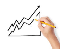 Hand drawing chart show Royalty Free Stock Images