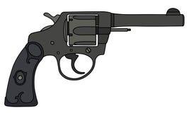 Classic black revolver Royalty Free Stock Photos