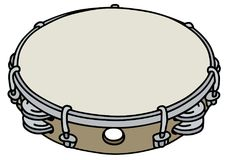 Small wooden tambourine Royalty Free Stock Photos