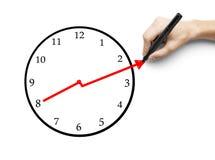 Hand drawing clock Royalty Free Stock Image