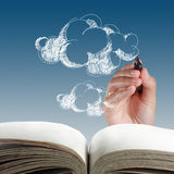 Hand drawing cloud network Royalty Free Stock Images