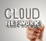 Hand drawing  Cloud network Royalty Free Stock Photos