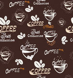 Hand Drawing coffee seamless pattern Royalty Free Stock Images