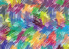 Hand drawing colorful pattern. stock images