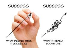 The Path To Success Arrows Concept stock photo