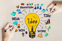 Idea, innovation and finance concept royalty free stock photo