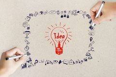 Idea, innovation and plan concept royalty free stock photo