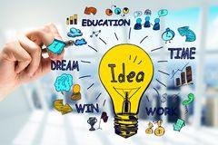 Idea, innovation and research concept royalty free stock photo