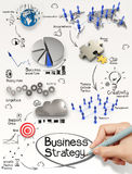 Hand drawing creative business strategy Stock Image